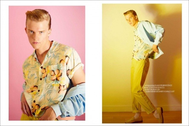 Crawford model Hunter Nance photographed for Ponyboy by Alexander Thompson. Spread #9.