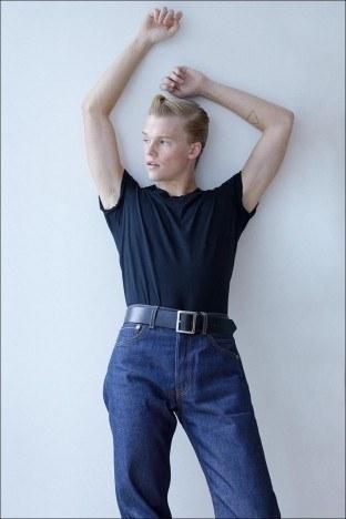 Crawford model/actor Hunter Nance photographed for Ponyboy by Alexander Thompson.
